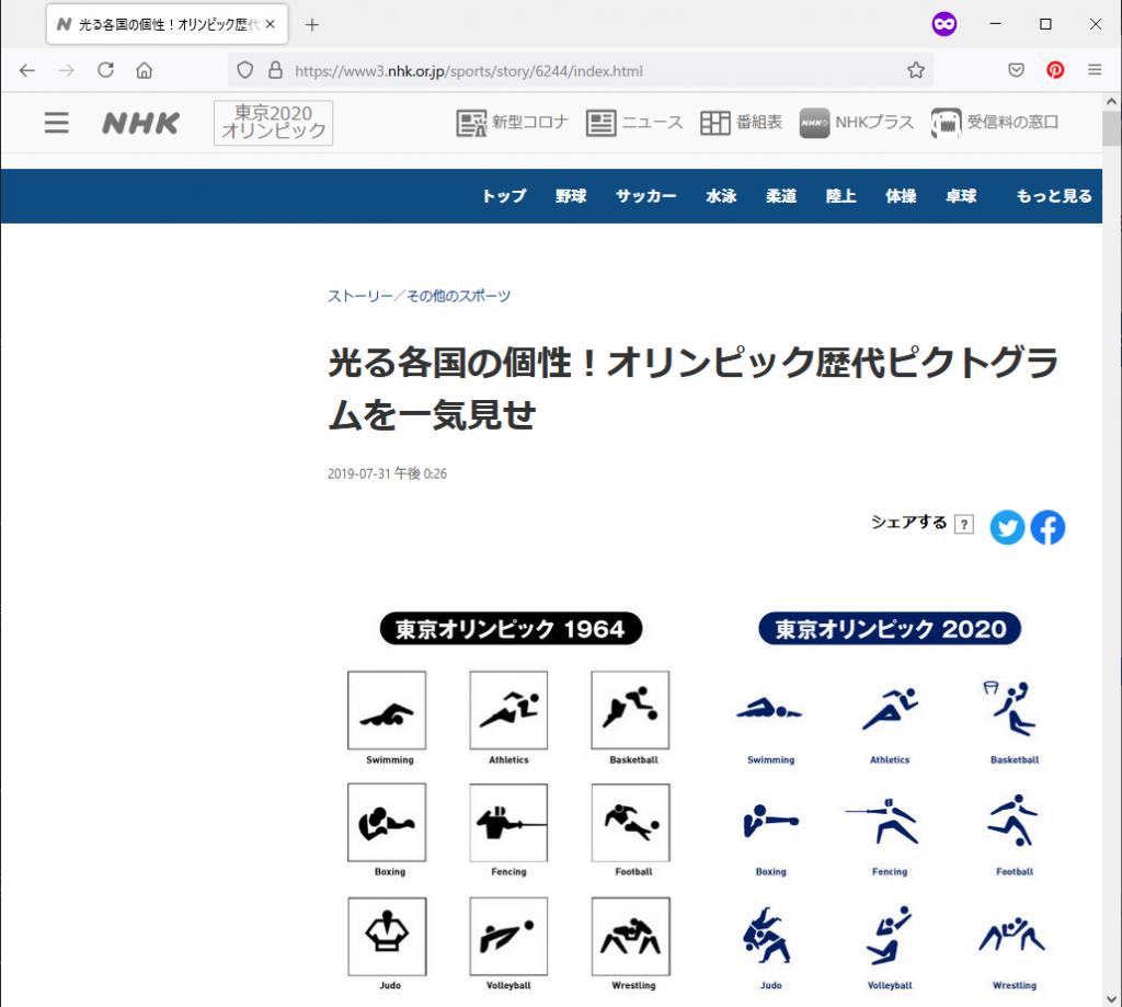 NHKのピクトグラムまとめサイト